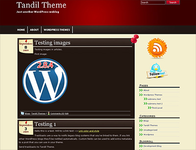 New WordPress Theme Tandil